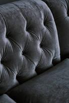 Anthropologie Slub Velvet Lyre Chesterfield Grand Sofa, Hickory
