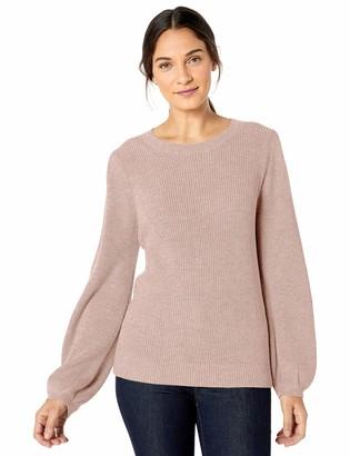 Lark & Ro Bell Sleeve Sweater Dusty Rose Melange XL