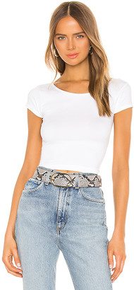 Free People Cap Sleeve SMLS Crop Top