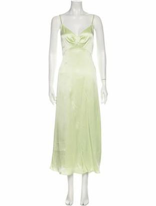 ADEAM V-Neck Long Dress w/ Tags Green