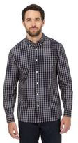 Maine New England Navy And Yellow Checked Print Shirt