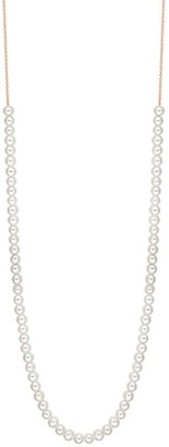 ginette_ny Mini Boulier Pearl Necklace - Rose Gold