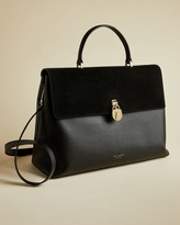 Ted Baker Padlock Leather Large Tote