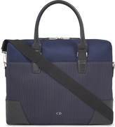 Christian Dior Pinstripe canvas briefcase