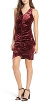 Leith Women's Ruched Velour Sheath Dress