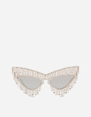 Dolce & Gabbana Crystals' Rain Sunglasses