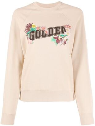 Golden Goose Floral Logo Print Sweatshirt