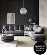 Liaison Right-Hand Chaise Sofa And Footstool