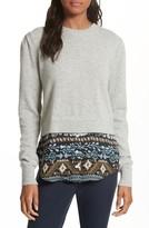 Veronica Beard Women's Jenson Layered Hem Cashmere Sweater