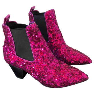 Marc Jacobs Purple Glitter Ankle boots