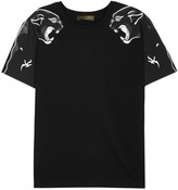 Valentino Black Panther-print Cotton T-shirt