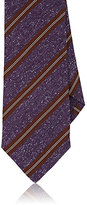 Isaia Men's Striped Necktie-PURPLE