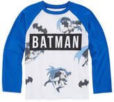 Batman Long Sleeve Crew Neck T-Shirt-Preschool Boys