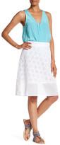 Trina Turk Desha Embroidered Crochet Lace Knit Skirt