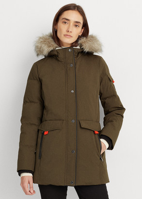 Ralph Lauren Contrast Heavy Down Coat