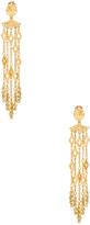 Oscar de la Renta Diamond Tassel Earring