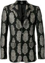 Alexander McQueen embroidered blazer - men - Cotton/Polyamide/Polyester/metal - 50