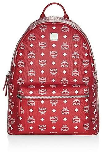 MCM Logo Coated Canvas Backpack