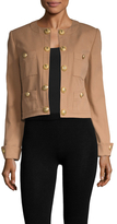 Balmain Cotton Button Embellished Jacket
