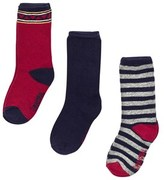 Mayoral Set of 3 Navy Patterned Socks