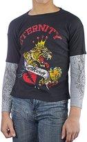 Ed Hardy Kids Tiger Thermal Long Sleeve T-Shirt -Black