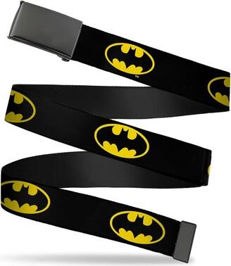 "Buckle Down Buckle-Down mens Buckle-down Web Batman 1.25"" Belt"