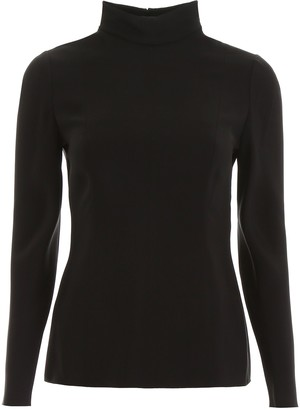 Valentino Turtleneck Fitted Long Sleeved Blouse