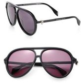 Alexander McQueen 59MM Oversized Aviator Sunglasses