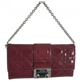Christian Dior Lady Red Patent leather Clutch bags