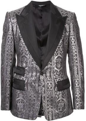 Dolce & Gabbana Jacquard Casino-Fit Tuxedo Jacket