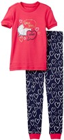 Petit Lem Love You More Pajama - 2-Piece Set (Toddler & Little Girls)