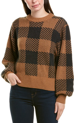 Splendid Plaid Cashmere Pullover
