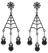 George Halloween Spider Web Earrings