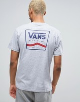 Vans T-Shirt With Back Print In Gray VA2X4TATH