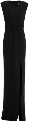 Jay Godfrey Twist-front Stretch-crepe Gown