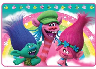 """Trolls Kids Foam Bath Rug, Skid-Resistant, Polyester, 30"""" x 20"""""""