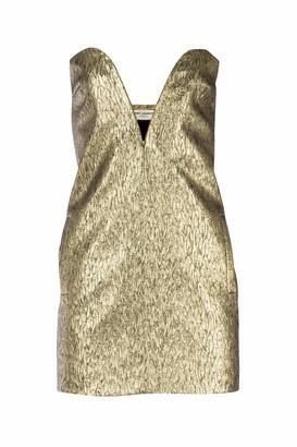 Saint Laurent Textured Strapless Mini Dress