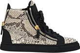 Giuseppe Zanotti Women's Croc-Stamped Double-Zip Sneakers-GREY