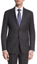 Armani Collezioni G-Line Birdseye Two-Piece Wool Suit, Charcoal