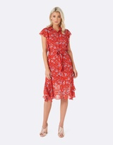Forever New Ruby Flounce Shirt Dress