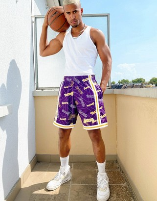 Mitchell & Ness NBA LA Lakers Tear Up Pack Swingman shorts in purple