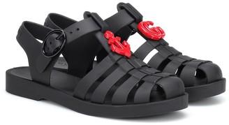 Gucci Kids Embellished rubber sandals
