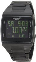 Kenneth Cole New York Unisex KC3927 Digital Black Screen Dial Watch
