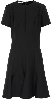 Stella McCartney Wool-blend crepe dress