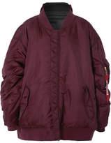 Vetements Reversible Oversized Shell Bomber Jacket - Burgundy