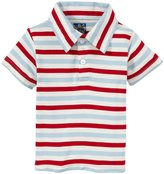 Kickee Pants Print Polo (Baby) - Balloon Stripe-18-24 Months
