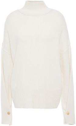 Autumn Cashmere Button-detailed Cashmere Turtleneck Sweater