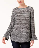 Style&Co. Style & Co Flared Crew-Neck Sweater, Created for Macy's