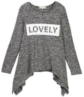 Soprano Lovely Long Sleeve Top (Big Girls)