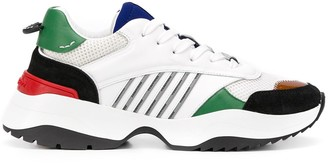 DSQUARED2 Stripe-Detail Layered Sneakers